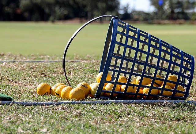 The Rukket haack practice net on fairway first golf